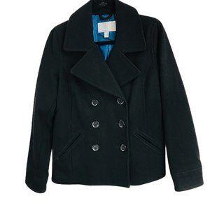 Old Navy Wool Blend Pea Coat Black size M